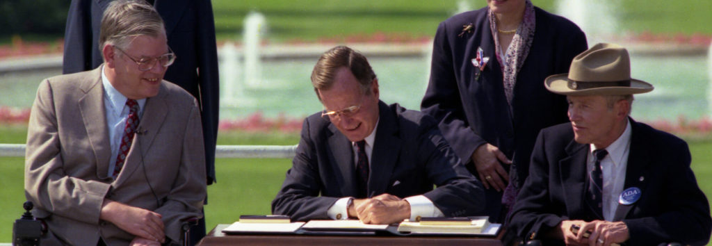 President bush signs ADA