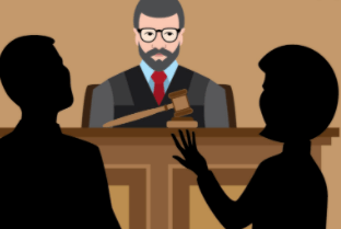 2 lawyers pitching to judge