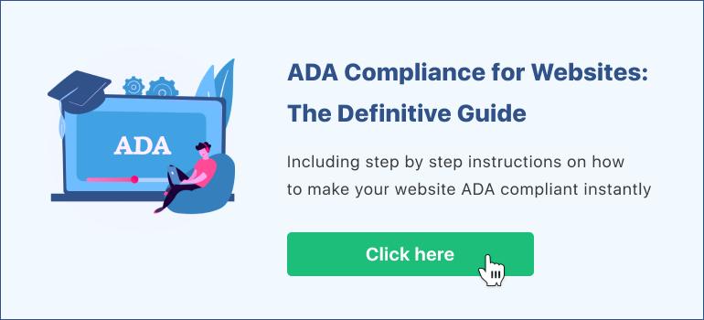 ADA guide banner
